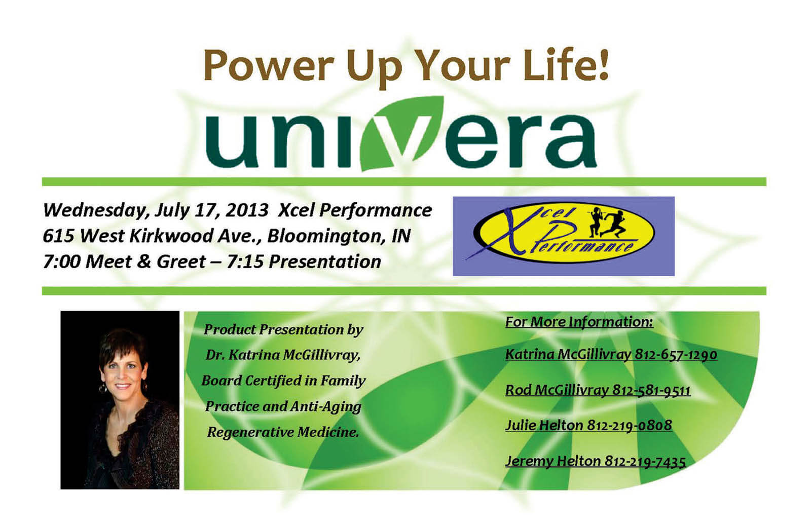 Power Up Your Life! flyer