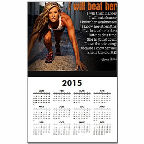 I will beat her calendar print